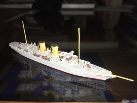 Dampf-Yacht Savarona 1931, Massstab 1:1250