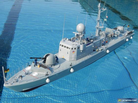 Flugkörper Schnellboot Klasse 143 der Bundesmarine P6117, S67 Kondor