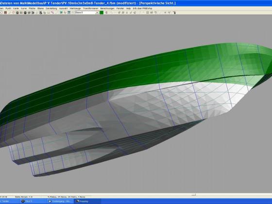 Pegasus V Yachttender - CAD 3 D-Ansicht