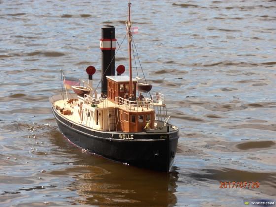 Dampfschiff WELLE Echtdampf