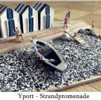 Strandpromenade in Yport/Normandie