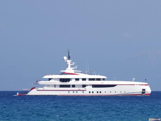 Eine moderne Yacht