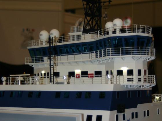 Details am Modell MSV Fennica im Maßstab 1:50