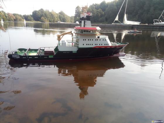 Nordic auf dem Weichelsee
