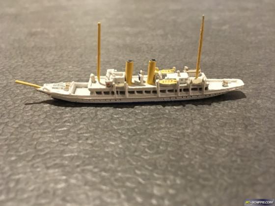 Dampf-Yacht Mona, 1902, Massstab 1:1250
