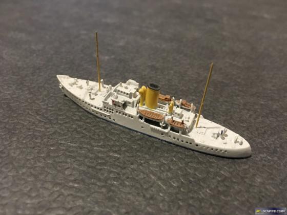 MY Alva, 1931, Krupp Germania Werft Kiel, gebaut für William K. Vanderbilt II, Massstab 1:1250