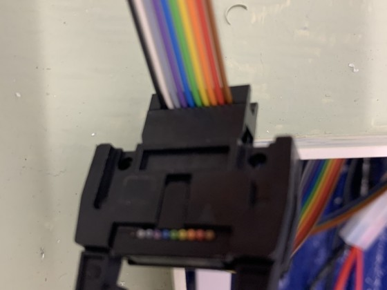 Die Kabel zu den LED