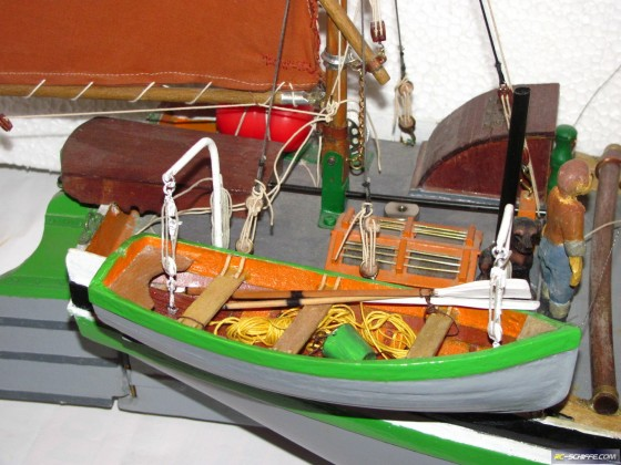 Capricorn , Thames sailing barge model
