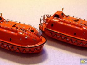 Rettungsboote des Eisbrechers ODEN