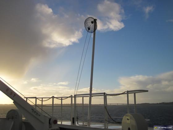 Ankerball 60cm Durchmesser an 300m Schiff