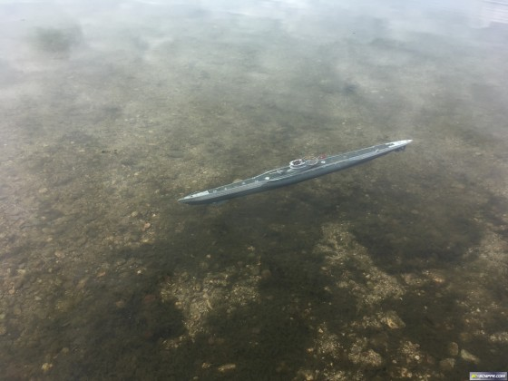 U-Boot VIIC Arkmodel  - Tauchfahrt