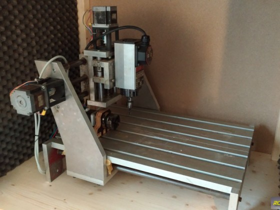 CNC router 4th axis