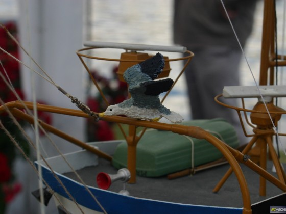 Details am Modell eines Krabbenkutters